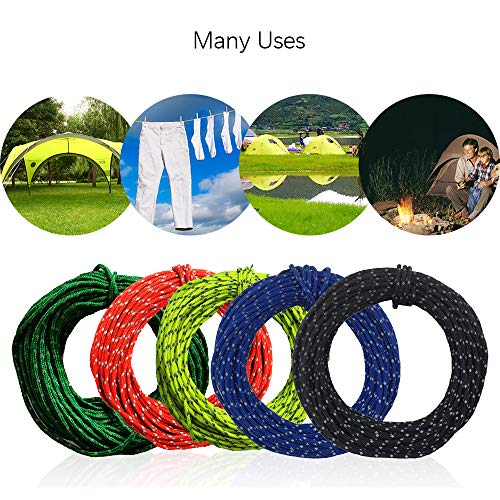Wankd Reflecterende touw, outdoor camping tent, vaste kabel, overkapping, spijker, winddicht touw, opslagkabel, 15,24 meter