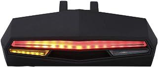 Luz LED trasera para bicicleta con mando a distancia recargable a través de cable USB. Intermitente. 2 colores. 5 modos. Inalámbrico. Antirrobo. Impermeabilidad IPX4.