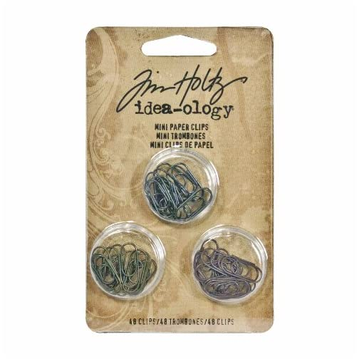Metal Mini Paper Clips by Tim Holtz Idea-ology, 48 per Pack, 5/8 Inch, Antique Finishes, TH92791 |
