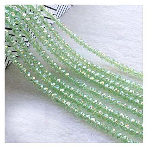 TWWSA Cuentas espaciadoras 4 * 3mm Crystal Beads Czech Faceted Jewelry Hallazgos Spacer Pendientes Brazalete Pulsera Lariat Collar Accesorios Hecho a Mano (Color : Plum, Item Diameter : 3x4mm130pcs)