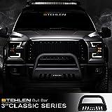 Stehlen 714937181960 3' Classic Series Bull Bar - Matte Black For 2003-2008 Honda Pilot / 2006-2014 Ridgeline