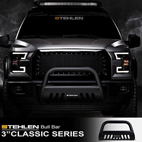 "Stehlen 714937181434 3"" Classic Series Bull Bar - Matte Black For 2004-2020 Ford F150 / 2003-2017 Expedition / 2003-2014 Lincoln Navigator / 2006-2008 Mark LT"