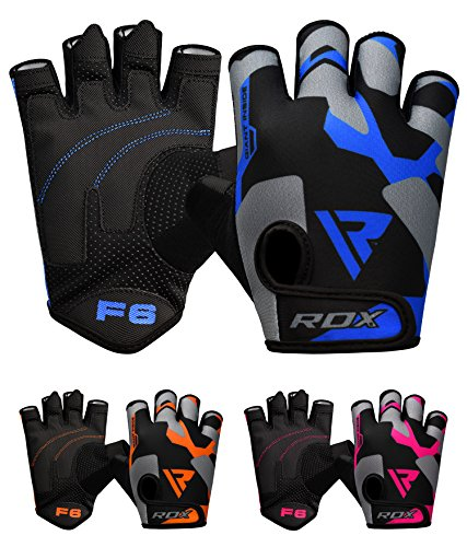 RDX Fitness Handschuhe Trainingshandschuhe Handgelenkschutz Gewichtheben krafttraining Sporthandschuhe Bodybuilding Workout Gym Gloves (MEHRWEG)