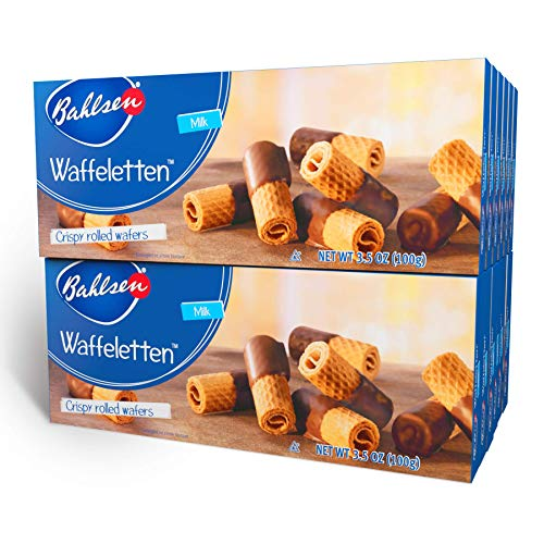 Bahlsen Waffeletten Milk Chocolate Dipped Cookies (12 boxes) - Delicate...