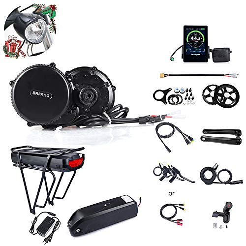JUNSTAR Mountain Bike Mid-Drive Motor Road Bike Electric Bike Conversion Kit Bafang BBS02B 48V 750W (MM G340.750) Bike Conversion Kits with Battery(48V11.6Ah/17.5Ah and 52V 14Ah)