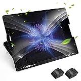 Tappetino di Raffreddamento per Laptop da Gioco Upkey Base di Raffreddamento PC Portatile Cooling Pad Laptop Stand Usato per da 9 a 17 di Pollici, 5 Altezze di Regolazione, 2 Porte USB e Luce LED Blu