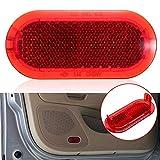 Wyfan 1 unids Coche/Auto Door Interior Cortesía Puerta Red Advertencia Luz Reflector Ajuste para VW Ajuste para Aptitud Escarabajo para Caddy Polo Touran 6q0947419 (Emitting Color : 2pcs)