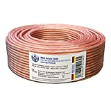 50m Cable de altavoz 2x2,5mm² OFC ronda trasparente marcas de longitud, Model 9547
