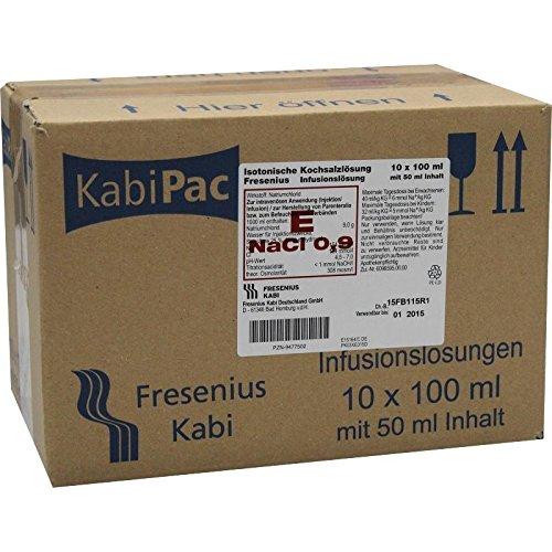 ISOTONISCHE Kochsalzlösung 100ml halbgefx 10X50 ml