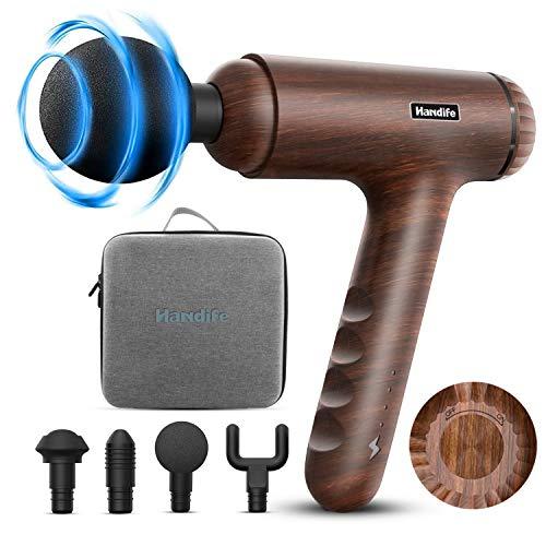 Pistola de Masaje Muscular,Massage Gun 3 Niveles Ajustables Masajeador de Músculos Percusión de Tejido Profundo,Massage Gun con 4 cabezales,Relajación Recuperación