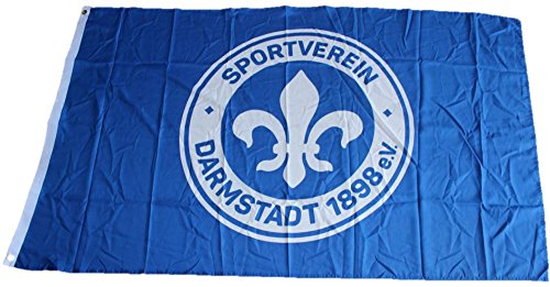 Flaggenfritze Hissflagge SV Darmstadt 98 Logo - 90 x 150 cm + gratis Aufkleber