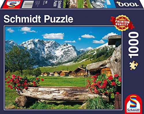 Schmidt Spiele Puzzle 58368 Blick ins Bergidyll, 1000 Teile Puzzle, bunt