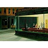 WTHKL Edward Hopper Nighthawks Seide Leinwand Malerei