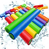 Scientoy Water Gun, 8 PCS Pool Toys,16'-24.8' Squirt Gun for Kids with 35FT Long Shot Water Cannon for Adults&Kids&Boys&Girls, Blaster Foam Shooter Set Pool Toys in Summer Swimming Pool&Beach