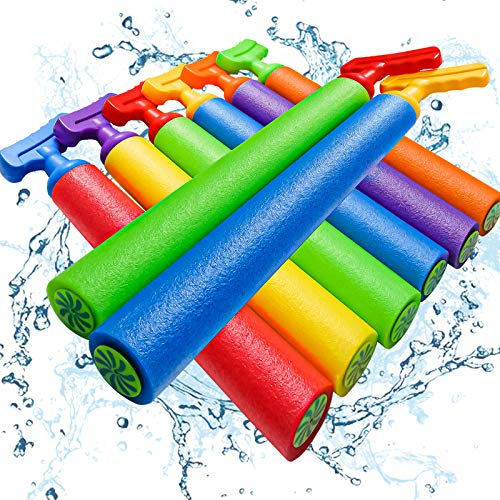 """Scientoy Water Gun, 8 PCS Pool Toys,16""""-24.8"""" Squirt Gun for Kids with 35FT Long Shot Water Cannon for Adults&Kids&Boys&Girls, Blaster Foam Shooter Set Pool Toys in Summer Swimming Pool&Beach"""