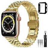Diruite für Apple Watch 6/5/4/SE 44mm Armband+Panzerglas Schutzhülle,Neues Upgrade Galvanisieren...