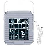 Omabeta Mini Enfriador de Aire, Aire Acondicionado USB portátil, Velocidad del Viento Ajustable, Ventilador de refrigeración de Escritorio, súper silencioso para la Oficina en casa