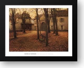 Le Village en Automne 38x30 Framed Art Print by Le Sidaner, Henri