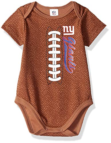 NFL New York Giants Unisex-Baby Football Bodysuit, Brown, 6-12 Months (138791160GIA612-909)