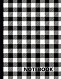 Black and White Buffalo Plaid Notebook: Black and White Buffalo Plaid Christmas Striped Notebook/Journal/Diary To Write In