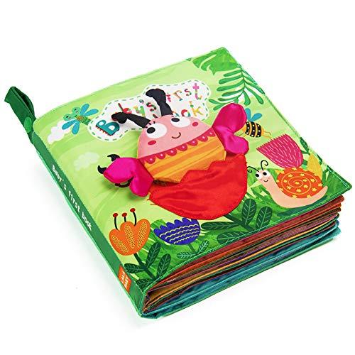 teytoy Mi primer libro suave, 11 temas tela no tóxica arrugas bebé libro ocupado silencioso libros de actividades para niños y niñas primeros juguetes educativos Montessori perfecto para viajar