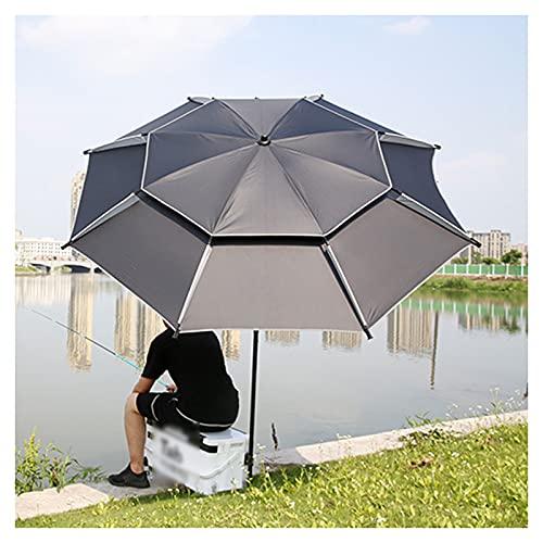 YRRA Sombrilla de jardín, sombrilla de Pesca, sombrilla, manivela inclinable de Aluminio, Resistente a los Rayos UV, para jardín y Patio al Aire Libre,Negro,7.8ft