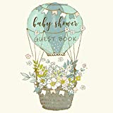 Baby Shower Guest Book: Blank Lined Book with Hot Air Balloon Softcover
