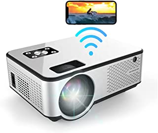 """MO C9 Mini Projector WiFi Screen Mirroring AirPlay Miracast 1080P Full HD Support Indoor Outdoor Home Theater 200"""" Portabl..."""