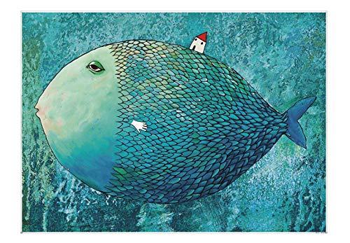 EACHHAHA Fisch Puzzle 1000 Teile,Erwachsene Puzzle Kindlich,EIN Muss für Heimspiele,70 x 50 cm/27.5x19.7in,Fisch