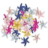 50pcs Starfish Shape Mini Brads Round Head Metal Brads Crafts Split Pins Paper Fasteners for Multicolor Scrapbooking Stamping DIY Tool