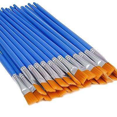 UPINS 30 Pcs Flat Paint Brushes,Small Brush Bulk for Detail Painting