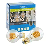 2 pack icasa 60mm Spiral Filament LED Lampe | abstimmbares weißes Licht |...