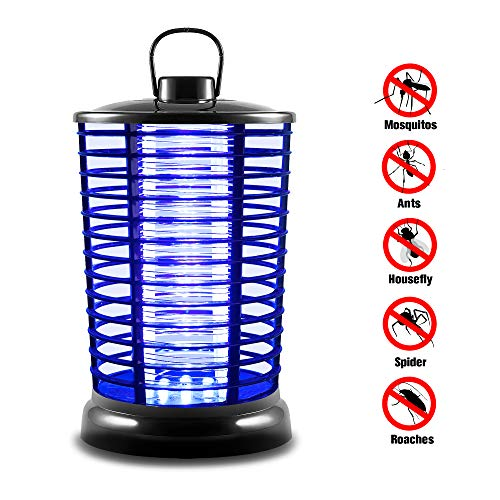XMSTORE 2 Fly, Electric Zapper with UV Light, Portable Standing, Black