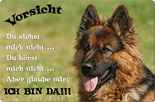 +++ Deutscher SCHÄFERHUND - Metall WARNSCHILD Schild Hundeschild Sign - DSH 34 T2