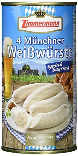 Fleischwerke Zimmermann 4 Münchner Weißwürste, 530g