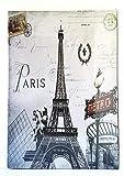MR Cuadro de Madera Vintage Ciudad de Paris, 24x18 cm