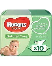 Huggies Wipes Natural Care Doos 10 X 56 Stuks, 560 Stuk