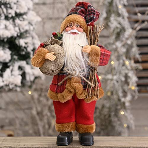 basku Babbo Natale,Villaggio Babbo Natale Torre del Greco Decorativa,Statuetta Decorativa di Babbo Natale, 30 Cm, 4 Diversi Modelli A Scelta