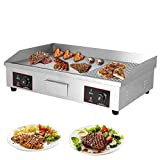 LKZAIY 29' Electric Griddle 220V 4400Watt Commercial Countertop Pancake Stainless Steel Griddle Table Top Iron Grill with Temperature Control - Restaurant Equipment for Barbecue&Teppanyaki