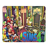 The Sims 4 Gaming Mouse Pad to Be Famous Theme Thick Waterproof Mouse Mat Non-Slip Stitched Edges and Rubber Base for Home Office Desk (12x9.8 inch)