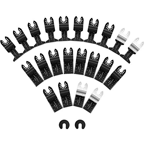 22 Oscillating Saw Blades Metal Wood Multitool Quick Release Saw Blades Compatible with DeWalt Milwaukee Porter Cable Black&Decker Bosch Dremel Craftsman Ridgid Ryobi Makita Rockwell