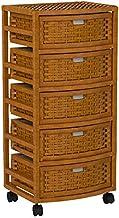 "Oriental Furniture 37"" Natural Fiber Chest of Drawers - Honey"