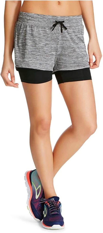 Masked Brand C9 Champion Women's Knit Layered Shorts