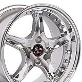 OE Wheels LLC 17 inch Rim Fits Ford Mustang Cobra R Wheel FR04A 17x9 Chrome w/Rivets Wheel