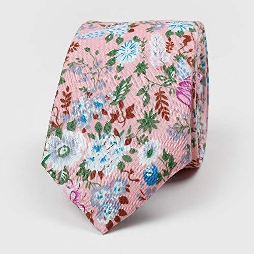 zhouzhou666 Herren Krawatte Europa und Amerika Bedruckte Baumwolle Trendy Floral 6cm Krawatte Hochzeit -210096