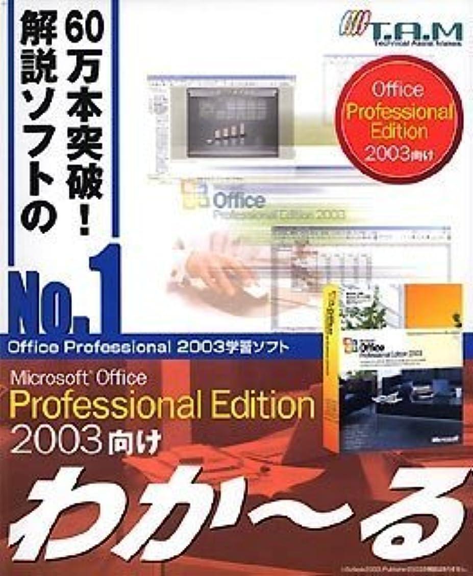 プロフィールゴールデンアクセルMicrosoft Office Professional Edition 2003向け わか~る