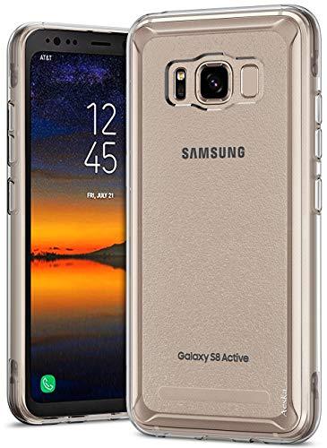 Aeska Galaxy S8 Active Case, Ultra [Slim Thin] Flexible TPU Gel Rubber Soft Skin Silicone Protective Case Cover for Samsung Galaxy S8 Active (Clear)