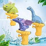 Ulikey Pistola de Agua de Juguete, 3 Piezas Juguete de Pistola con Dinosaurio, Pistola de Agua para Niños en Verano, Juguete de Agua para Niños Pulverización Batalla de Agua Playa Piscina