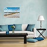 Wallario selbstklebendes Poster – Fliegende Möwe am Strand in Premiumqualität, Größe: 61 x 91,5 cm (Maxiposter) - 4