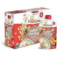 8-Pack Happy Tot 4 Super Morning Apple Cinnamon Yogurt Oats + Super Chia